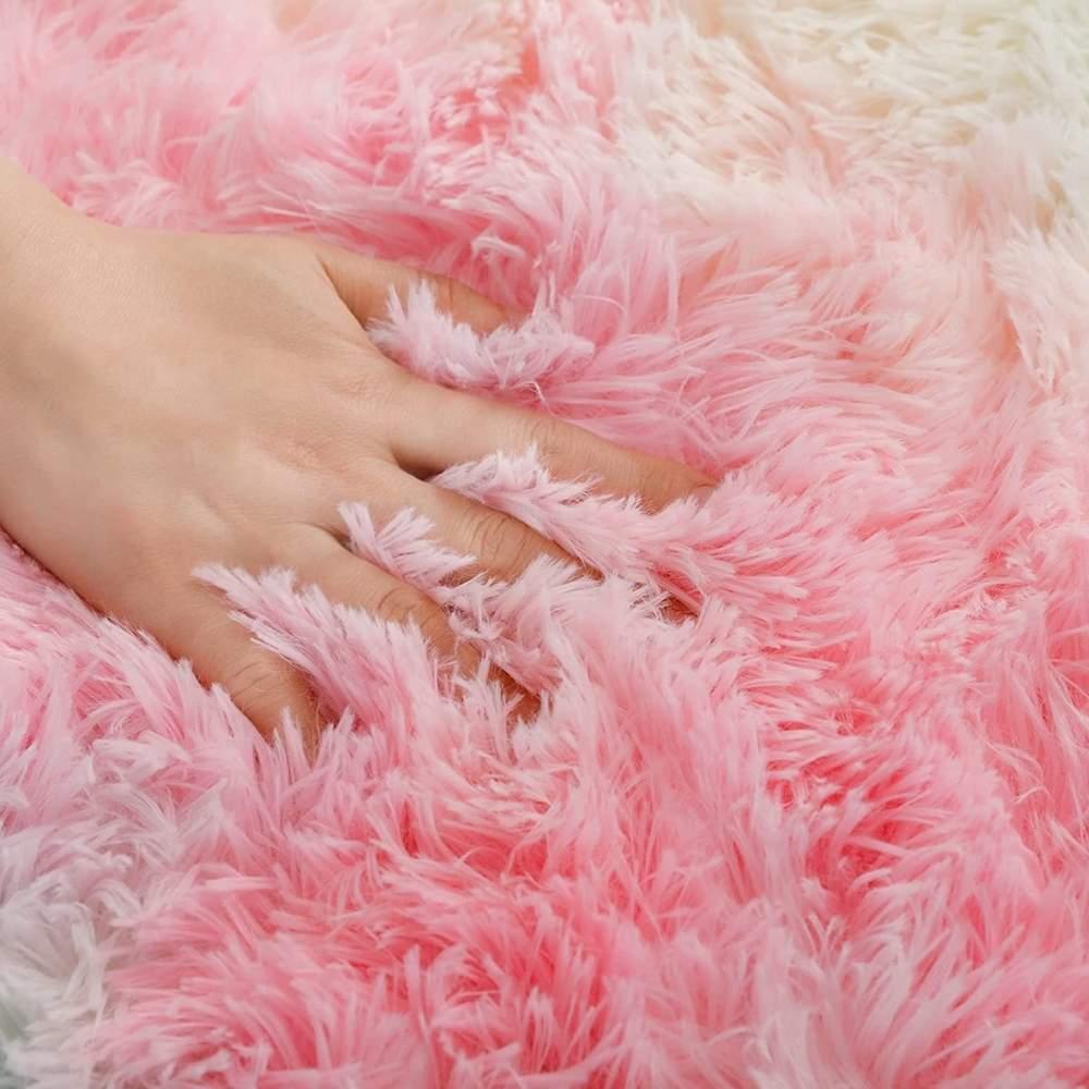 buy plush faux fur rug online