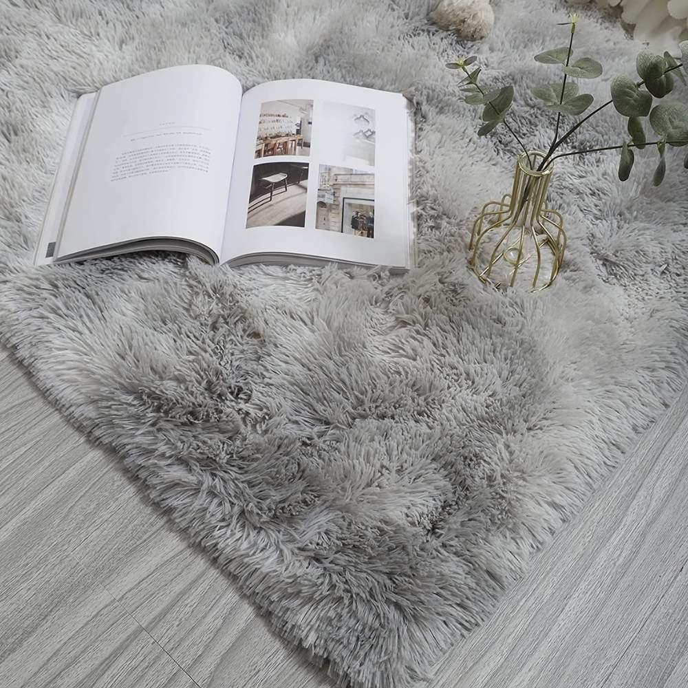 buy silver plush floor rugs online