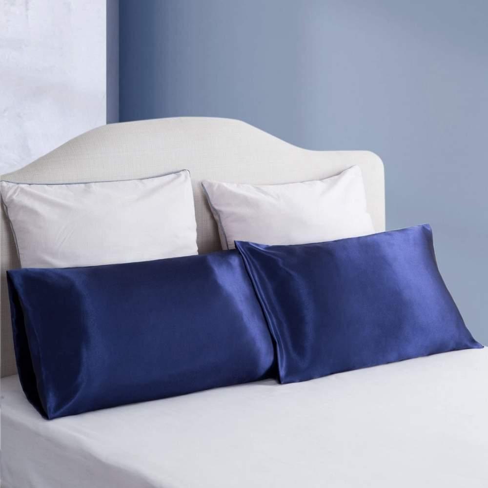 buy blue satin pillow cases