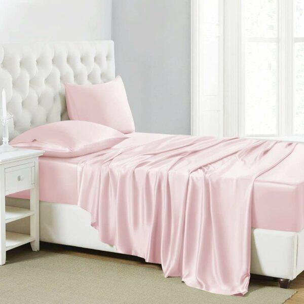 buy pink mulberry silk sheet
